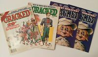 Lot of 4 Vintage Cracked Magazine Anniversary Issue Lee Majors 1974 & 1980s