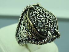Turkish Handmade Jewelry 925 Sterling Silver Claw Design Men's Ring Sz 10