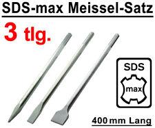 SDS-max Meißel Set 3-tlg. 400 mm Flachmeißel Spitzmeißel Breitmeißel Spatmeißel