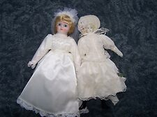 Heritage Mint Bride Doll Bisque Porcelain Woman in White lace Dress