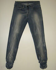 BEAUTIFUL NOBODY BLEACHED BLUE/GREY SKINNY FIT JEANS 30 Made in Australia