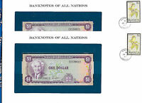Banknotes of all Nations Jamaica 1 Dollar 1982 UNC P-64a sign 6 2 Consecutive
