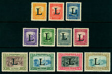 COLOMBIA 1950 AIRMAIL set  Scott # C175-C185  mint MNH