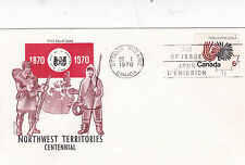 Canada 1970 Northwest Territories Centennial  FDC Unadressed VGC