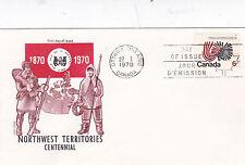 Canada 1970 di Northwest territories Centenario FDC unadressed in buonissima condizione