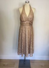 BNWT DEBUT Oyster beige/nude dentelle dos-nu Marilyn Robe Taille 12 RRP £ 80