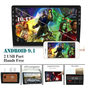 "Android 9.1 10.1"" inch Double 2 DIN Car MP5 Player Touch Screen Stereo Radio GPS"