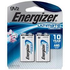 2-Pack Energizer Ultimate Lithium Batteries, 9V - Lithium Batteries Exp: 12-2028