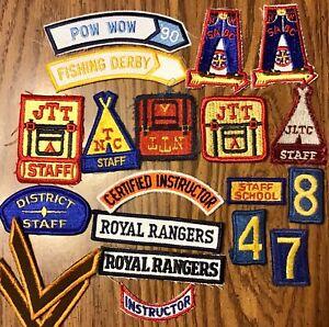 Vintage Royal Rangers Patch 20 Lot Rocker Tab Staff Training JTT NTC Numbers +