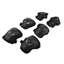 6Pack Adult Scooters Skating Bicycle Knee Wrist Safety Guard Elbow Pad Black