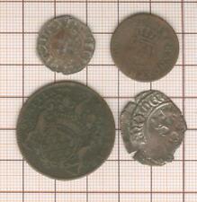 Token Artois + Denier St Louis + Farthing Coin Louis XVI 1791 Orleans + Florette