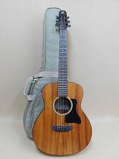 Caraya Premium Arch-Back Mahogany Parlor Travel Guitar + HD Canvas Bag + Strings