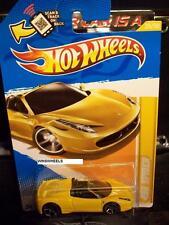 HOT WHEELS 2012 FE #25 -1 458 SPIDER YELLO NMC AMER