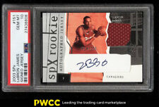 2003 SPx Basketball LeBron James ROOKIE RC AUTO PATCH /750 #151 PSA 10 (PWCC)