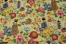 Tissu patchwork Japonaise Motifs 50x110cm beige 100% Coton