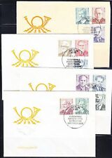 Germany DDR 1974 FDC covers Sc 1510-1519A Mi 1907-1917 Leaders of German labor