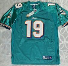 Miami Dolphins Jersey 19 Brandon Marshall Stitched NFL Field Reebok Mens 56  NEW fab708f90