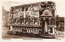 Coronation Decorated Tram Tramcar Nottingham unused RP pc