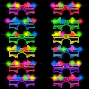 LED LIGHT UP RAVE GLASSES GLOWING,PARTY AND CLUB GLASSES, HEART AND OVAL SHAPE L