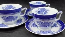 Spode FITZHUGH BLUE 3 Cup & Saucer Sets Y2988 GREAT CONDITION