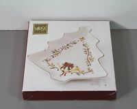 "One Holiday Elegance Tree Shaped Dish in Box 8 1/2"" - Mikasa"