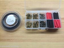 Luccio & GIOCO PESCA TRACCIA rendendo kit.over 200 pezzi + una sezione 10 affrontare box.