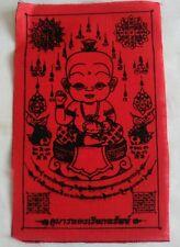 Pha Yant Kuman thong Ghost boy Thai amulet Fetish Wealth Love notice warning