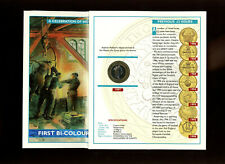 1997 Brilliant Uncirculated Royal Mint £2 coin cover in Royal Mint folder