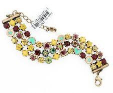 PILGRIM Bracelet Oxidised Gold Turquoise VICTORIAN PROMISE Ruby Swarovski BNWT