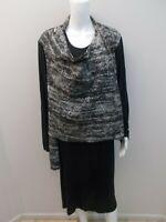 HAMMOCK & VINE EXPOSED ZIP SHOULDER LAYER DRESS SIZE XXL=16/18 (#Y1811)