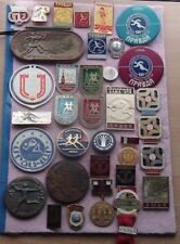 Collection of pins ATHLETICS, many foto