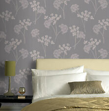 """Graham & Brown WAS $60, NOW $8 Floral Grey and Mica Wallpaper 33' x 20.5"""""""