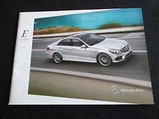 2014 Mercedes Benz E-class Sedan & Wagon E350 E550 E400 Hybrid E63 AMG Brochure