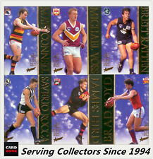1996 Select AFL Trading Card Series 1 Best & Firest Card Full Set (16 cards)