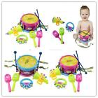 Funny 5pcs Kids Roll Drum Musical Instruments Band Kit Children Toy Gift Set S=