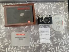 Minox Digital Classic Camera Leica M3 2.1 Miniature w/ Display Box and Software