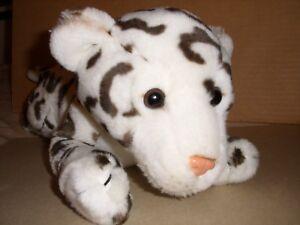 "ANIMAL ALLEY Toys R Us white brown SNOW LEOPARD Plush Stuffed Animal 17"""