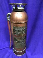 Antique Universal Copper Brass Fire Extinguisher B-2 Boston Mass EUC
