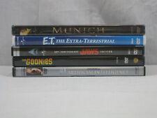 Steven Spielberg 5 movie Dvd lot E.T. Munich, The Goonies, Jaws. Vg