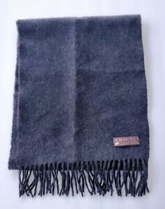 Amicale 100% Cashmere Scarf Charcoal Gray