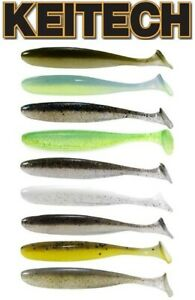 """Keitech Easy Shiner Swimbait, 3"""" 10 per pack, Choice of Colors"""