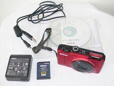Nikon Coolpix S8100 Red 12.1 Pixel 10x Zoom Full HD Digital Camera Bundle Repair