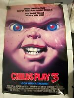 Vintage 90s Original Movie Poster One Sheet Child's Play 3 ROLLED 27x39.5