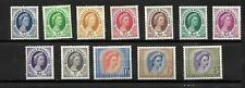 Rhodesia & Nyasaland 1954 QEII defintives, almost complete to 5/- LMM (R004)
