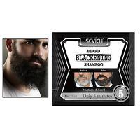 Le shampooing colorant assombrissant colore progressivement la barbe de