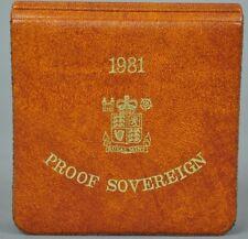 1981 LA REGINA ELISABETTA II PROOF ORO SOVRANO + capsulated all'interno di Lusso Custodia