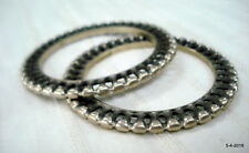 bracelet set 2pc gypsy jewellery vintage antique tribal old silver bangle