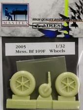 Aires 1/32 Messerschmitt Bf109F Wheels for Hasegawa and Trumpeter kit # 2005