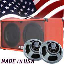 1) 2x12 Guitar Spkr Cab Fire hot Red Tolex W/Celestion Classic lead Speakers