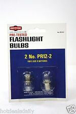 2 PACK LOT OF 2PC PR12-2 FLASHLIGHT BULBS FOR 5